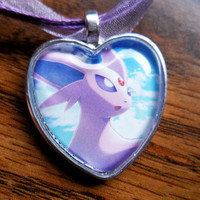 Espeon - Dark Explorers - handmade pendants from Trading Cards