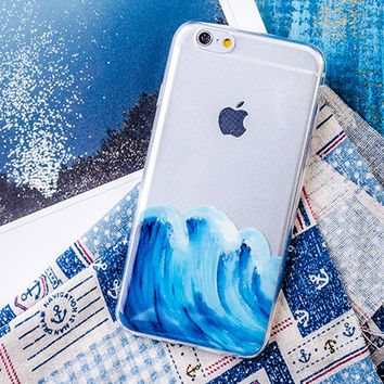Clear | Wavy iPhone Case