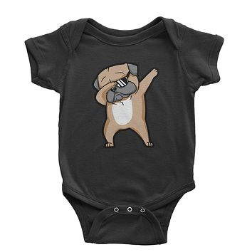 Dabbing Pug With Sunglasses Infant One-Piece Romper Bodysuit