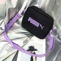 PUMA Fashion New Letter Print Shoulder Bag Crossbody Bag Women Black
