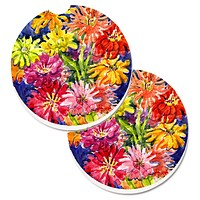 Flower - Gerber Daisies Set of 2 Cup Holder Car Coasters 6069CARC
