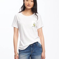 Relaxed Pocket Graphic Tee for Women | Old Navy