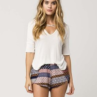 FULL TILT Linear Patchwork Womens Shorts | Shorts