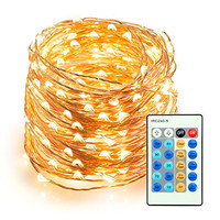 Outdoor String Lights, TaoTronics Dimmable LED String Lights, 66ft Copper Wire Light, Complete Waterproof Rope Lights, UL Certified, Perfect for Bedroom, Patio, Christmas, Decorative Firefly Lights
