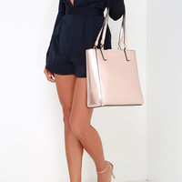 Morning Stroll Rose Gold Tote