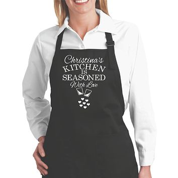 Personalized Aprons for Women | Custom Apron with Pockets