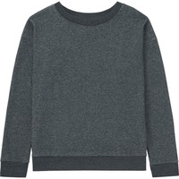 WOMEN FAUX SHEARLING SWEAT LONG SLEEVE PULLOVER | UNIQLO