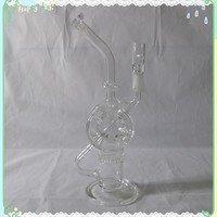 $1.50+ s/h Double Recycler Glass Bong FLASH SALE