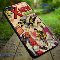 X-men Vintage Comic Book Cover iPhone 6s 6 6s+ 5c 5s Cases Samsung Galaxy s5 s6 Edge+ NOTE 5 4 3 #movie #disney #animated #marvel #comic #Xmen dt