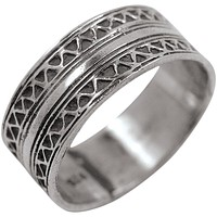 Inlaid Band Sterling Silver Ring