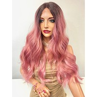 Rose Pink Ombre' Long Hair Lace Front Wig | Pink Friday 1218 54*****