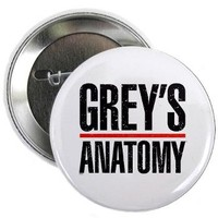 "Grey's Faded 2.25"" Button> Grey's Faded Logo> Grey's Anatomy TV Store"