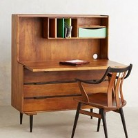 Retractable Writing Desk by Anthropologie in Brown Size: One Size Furniture