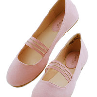 ModCloth Minimal The World is My PliC) Ground Flat in Pink