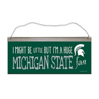Legacy Athletic Michigan State Spartans ''I Might Be Little'' Tin Sign (Green)