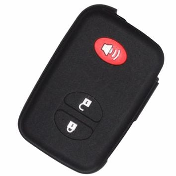 Silicone Skin Car Remote Fob Smart Key Shell Holder for Toyota Camry Land Cruiser Prado Prius 4Runner Venza 3 Buttons Case Cover