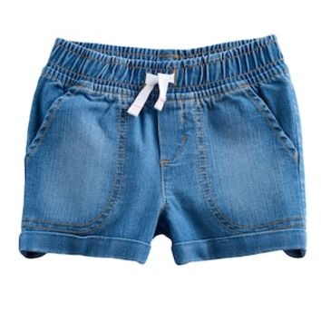 Toddler Girl Jumping Beans® Rolled Cuff Denim Shorts | null