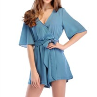 Summer fashion new model real shot candy color chiffon casual romper