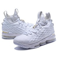 NIke James Fashion Casual Running High Tops Contrast Sports shoes White G-CSXY