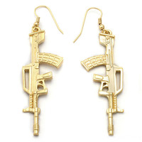 B2 – MACHINE GUN EARRINGS