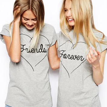 """Gray """"Friends"""" & """"Forever"""" T-Shirts"""