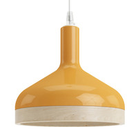 Plera Suspension Lamp Orange by Enrico Zanolla