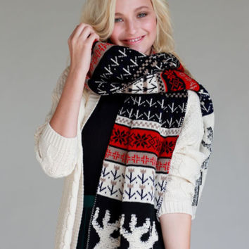 Winter Holiday Blanket Scarf