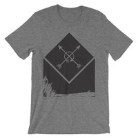 Rugged abstract arrows Unisex short sleeve t-shirt