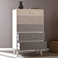 Colorblock 5-Drawer Anywhere Storage Cabinet, Grayscale