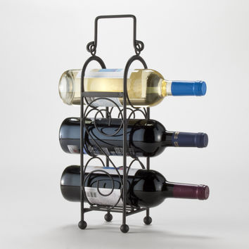 3-Bottle Wire Wine Caddy