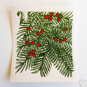 Swedish Dishcloth Spruce Boughs