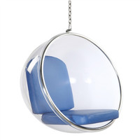 Hanging Bubble Chair Blue