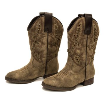 Stunner Western Boot in Bronze