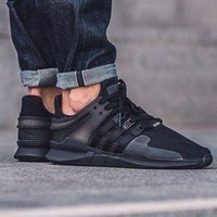 DCCKIJG Adidas EQT Equipment Support ADV All Black Sprot Shoes Running Shoes Men Women Casual