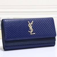 YSL Women Leather Buckle Wallet Purse-20