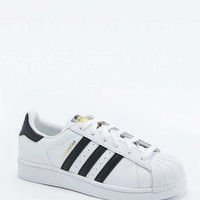 adidas Originals White and Black Superstar Trainers - Urban Outfitters
