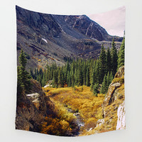 Autumn Wall Tapestry, Colorado Home Decor, Fall Leaves, Forest Tapestry, Nature Wall Tapestry, Inspiring Wall Art, Rocky Mountains