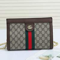 GUCCI GG new product letter printing ladies shopping cosmetic bag shoulder bag messenger bag