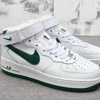 """""""Nike Air Force 1"""" Unisex Sport Casual Fashion High Help Plate Shoes Couple Sneakers"""