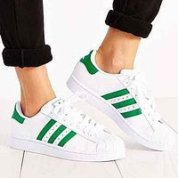 Adidas Fashion Shell Toe Flats Sneakers Sport Shoes