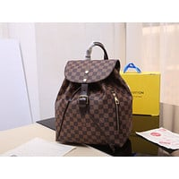 LV Louis Vuitton WOMEN'S DAMIER CANVAS Sperone BACKPACK BAG