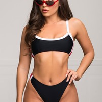 Canary Islands Two Piece Swimsuit - Black