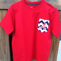 Cute Atlanta Braves Chevron pocket Tee