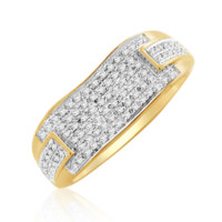 Diamond Micropave Mens Ring 0.20 Cttw in 10KT