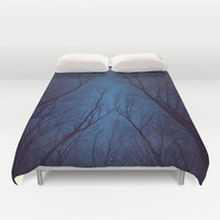 I Have Loved the Stars to Fondly (Night Trees Silhouette Abstract 2) Duvet Cover by soaring anchor designs ⚓ | Society6