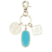 Shirley Charm Key Chain In Turquoise - Kendra Scott Jewelry