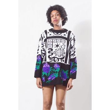 Vintage 90's Floral Abstract Sweater