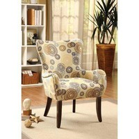 Acme Gabir Accent Chair, Fabric & Espresso