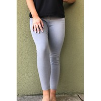 Silver High Rise Skinny Jean- Grey