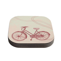 "Sam Posnick ""Bicycle"" Coasters (Set of 4)"